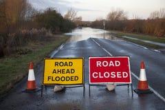 Overstroomde weg Royalty-vrije Stock Afbeelding