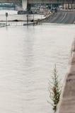 Overstroomde Weg, Boedapest Stock Fotografie