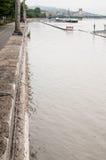 Overstroomde Weg, Boedapest Royalty-vrije Stock Fotografie