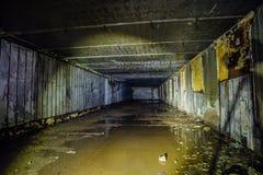 Overstroomde Zaal Voorwerp 221, verlaten sovjetbunker, reservecommandopost van de Vloot van de Zwarte Zee royalty-vrije stock foto's