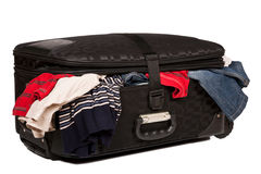 Overstuffed baggage isolated Royalty Free Stock Photos