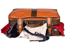 Overstuffed baggage isolated Royalty Free Stock Photography
