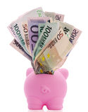 Overstuffed Piggy Bank Royalty Free Stock Photography