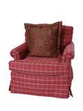 overstuffed stol som isoleras fotografering för bildbyråer