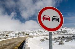 Overtake Forbidden Sign Stock Image