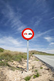 Overtake sign Stock Photos
