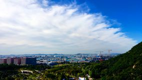 Clouds in the sky. Overtaking clouds, a summer morning in Korea, beautiful clouds, Beautiful scenery Stock Photo