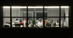 OverTime. Late office work during deadline stock photo
