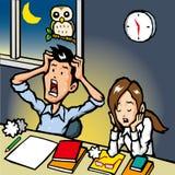overtime Immagini Stock