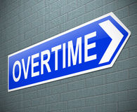 Overtime concept. Royalty Free Stock Photos