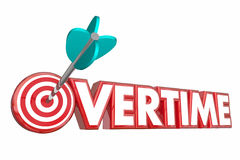 Overtime Extra Hours Added Work Target Employee. 3d Illustration vector illustration