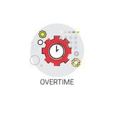 Overtime Extra Hours Work Icon. Vector Illustration vector illustration