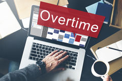 Overtime Hard Working Overload Concept Stock Image