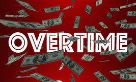 Overtime Money Pay Earn Extra Cash Word Stock Photography