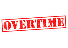 OVERTIME Royalty Free Stock Photography