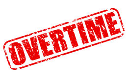 Overtime red stamp text. On white Vector Illustration