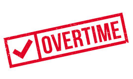 Overtime rubber stamp Stock Image