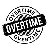 Overtime rubber stamp Stock Images