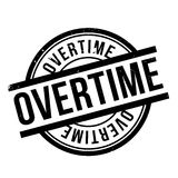Overtime rubber stamp Stock Photo