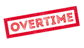Overtime rubber stamp Royalty Free Stock Images