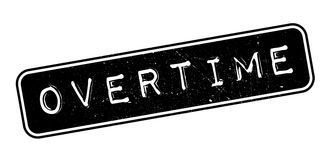 Overtime rubber stamp Stock Photos