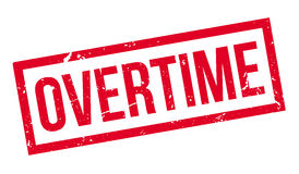 Overtime rubber stamp Royalty Free Stock Photos