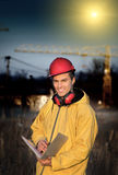 Overtime work on building site Royalty Free Stock Photography