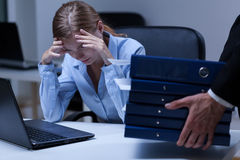 Overtime at work Royalty Free Stock Photography