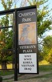 Overton Park Veteran's Plaza Entrance Sign Stock Image