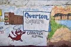 Overton-Quadrat-Wand-Kunst und Freso, Memphis, TN stockbilder