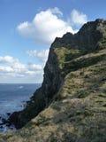 Overtowering klippa av 30 meter högt Royaltyfri Foto