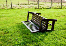 Overturned bench Royalty Free Stock Image