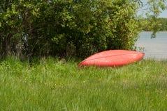 Overturned Canoe Stock Photos