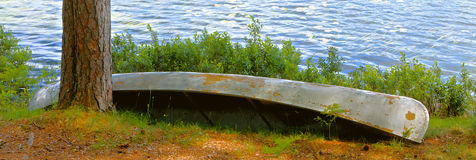 Overturned Canoe Stock Photos