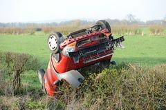 Overturned Car Stock Photos