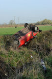 Overturned car Stock Photography
