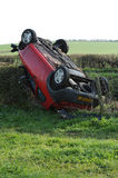 Overturned car Stock Image