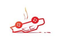 Overturned car illustration Stock Images