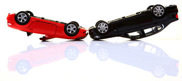 Overturned cars Royalty Free Stock Photography