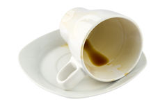 Overturned Coffee Cup Royalty Free Stock Photo