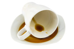 Overturned Coffee Cup Stock Photography