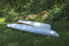 Overturned kayaks Stock Photography