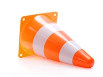 Overturned road guard Royalty Free Stock Images
