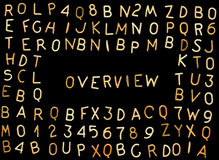 Overview. Nice overview of pasta letters and numbers (A-Z and 0-9 used stock photo