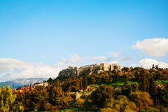 Overview of Acropolis in Athens, Greece Stock Image