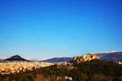 Overview of Acropolis in Athens, Greece Royalty Free Stock Photography