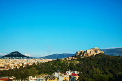 Overview of Acropolis in Athens, Greece Royalty Free Stock Images