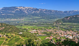 Overview of Adige Valley Royalty Free Stock Photo