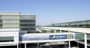 Overview of the airport of Barcelona Royalty Free Stock Photography