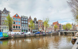 Overview of Amsterdam, the Netherlands Royalty Free Stock Images